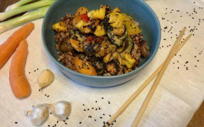 Thai Curry mit Reis-Mix